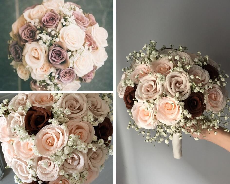 Ramo rosas de papel